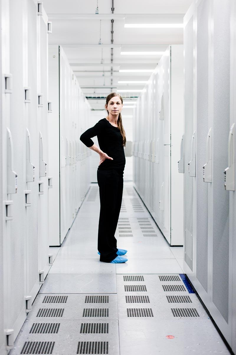 Die Besitzerin der Server Claudia Gharavi