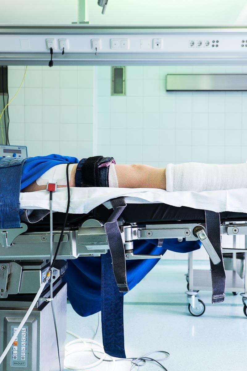 16.03.2015 - Bein-OP im Krankenhaus