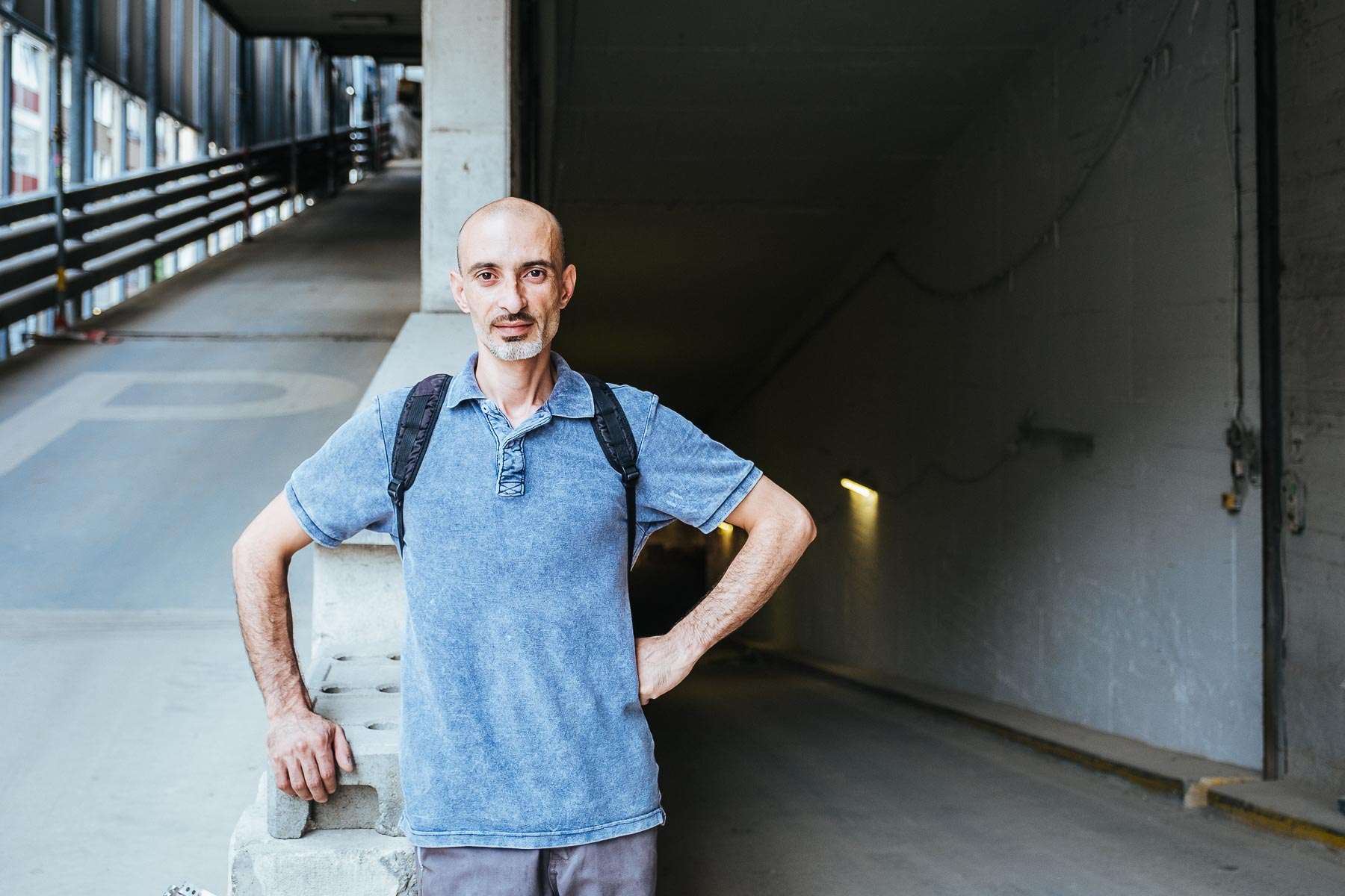 Herr Younes, Flüchtling aus Syrien für einen Artikel in der Wirtschaftswoche