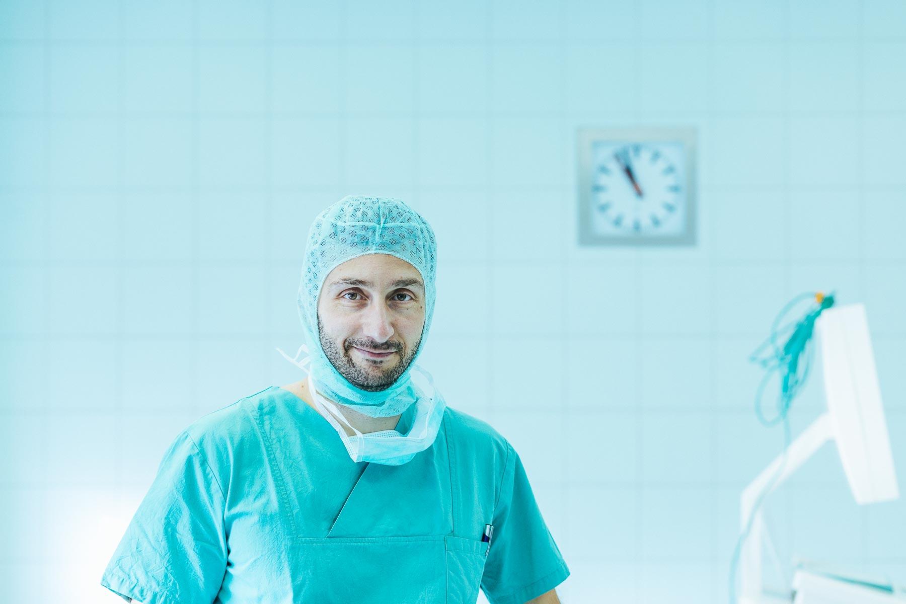 Mitarbeiter im OP im Evangelischen Krankenhaus Düsseldorf